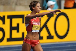 Blanka Vlašić - Vlašić preparing to jump at the 2009 World Championships