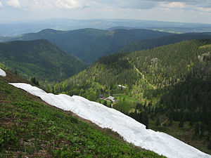 Cirque stairway - View of the Zastler Loch, a cirque stairway in the Black Forest.