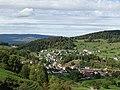 Blick von der Ruine Gilgenberg nach Zullwil, Solothurner Faltenjuras.jpg