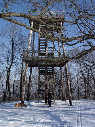 Blue Mound State Park - The East Observation Tower on the Blue Mound