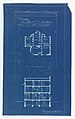 Blueprint, Villa of M. Hemsy, St. Cloud, Plan du 1e Etage, 1913 (CH 18384917).jpg