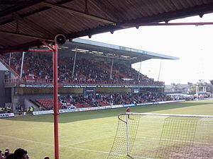 Lincolnshire derby - Blundell Park, Home of Grimsby Town since 1898.