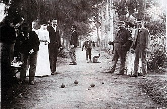 Bocce - An Argentine family playing bocce in San Vicente, Buenos Aires, c. 1902