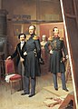 Bogdan Villevalde, Nicholas I of Russia and Alexander Nikolayevich in 1854.jpg