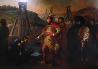 Bolesław I the Brave orders to hammer the border posts in Elbe and Soława by Józef Peszka ca. 1810