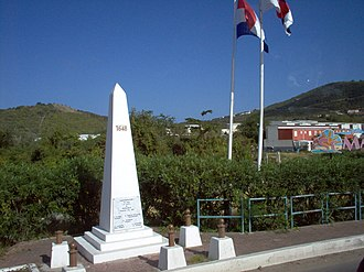 Saint Martin - Crossing from St. Martin to Sint Maarten, dedicated in 2008