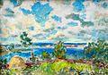 Boris Arakcheev 2001 The blue lakes of Vitebsk 34.5 x 48 cm Oil on cardboard.jpg