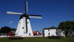 An 1877 windmill at Arsdale Bornholm-arsdale-windmill.jpg