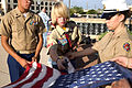 Boy Scout Dedicates Fire Pit for Flag Retirement 140528-M-HW460-094.jpg