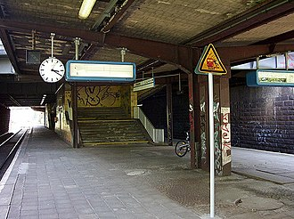 Potsdam Pirschheide station - The low level in 2005