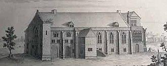 Bradenstoke Priory - 18th-century engraving of the Priory by Samuel and Nathaniel Buck