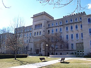 Bradley Hall is one of the first buildings constructed for the university and bears the name of the university's founder.