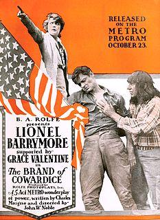 <i>The Brand of Cowardice</i> 1916 film by John W. Noble