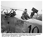 Breguet 14 - Lt. Clime ready for photographic flight, Issoudon, France, 23 May 1918.jpg