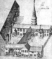 Bremen 1734, altes Gymnasium am Katharinenkloster.jpg