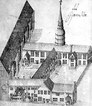 St Catherine's Monastery, Bremen - The grammar school in the former monastery, 1734
