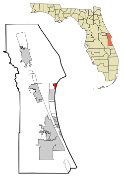 Brevard County Florida Incorporated and Unincorporated areas Cape Canaveral Highlighted.svg