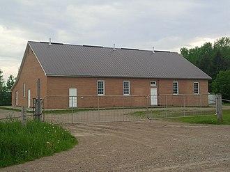 Wellesley, Ontario - Typical Mennonite meeting house near Linwood