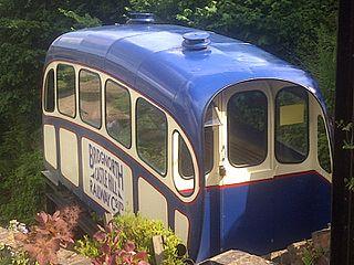 Funicular railway in Bridgnorth, Shropshire, England