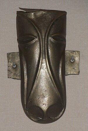 Prehistoric Britain - The Stanwick Horse Mask, La Tène style mount, British, 1st century AD, 10 cm