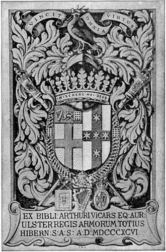 Arthur Vicars - Image: Britannica Book Plates Arthur Vicars by C. W. Sherborn