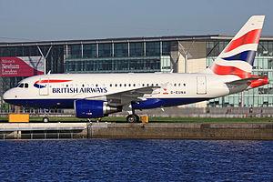 British Airways Ltd (2012–15) - A British Airways Limited Airbus A318 at London City Airport