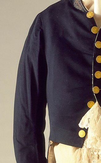 Broadcloth - Wool broadcloth jacket, c.1830. LACMA M.65.8a-d
