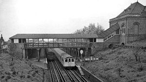 Buckhurst Hill tube station - The station in 1961