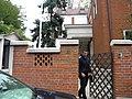 Bucuresti, Romania, Casa pe Str. Emil Pangratti nr. 20 sect. 1 (detaliu).JPG