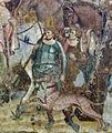 Buffalmacco, trionfo della morte, incontro dei tre vivi coi tre morti 14 servitori.jpg