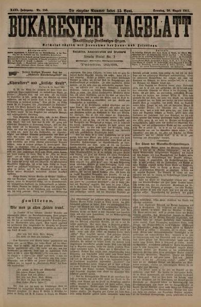 File:Bukarester Tagblatt 1911-08-20, nr. 186.pdf