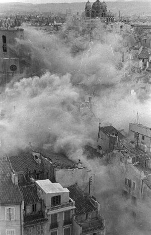 Destruction du quartier du Vieux-Port janvier 1943