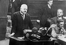 Stresemann vor der Vollversammlung des Völkerbunds, 1926
