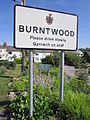 Burntwood sign, Flintshire (1).JPG