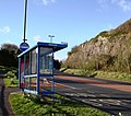 Bus shelter, Waterside, Three Beaches, Paignton - geograph.org.uk - 1225776.jpg