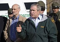 President George W. Bush delivers a statement ...