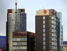 T-Hrvatski Telekom headquarters, a tall building with a red T on the side