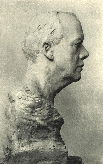 Houston Stewart Chamberlain - Bust of Chamberlain (c.1914), from an unfinished clay model for a bust by Joseph Hinterbeher
