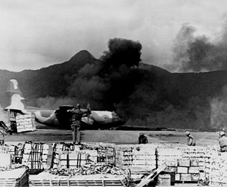 776th Expeditionary Airlift Squadron - C-130 Hercules taking off from Khe Sanh 1968