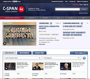 C-SPAN - Home page of the C-SPAN Video Library