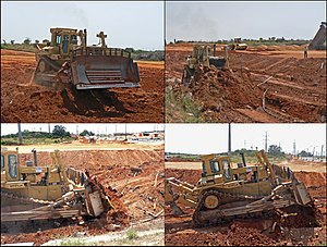 Earthworks (engineering) - Caterpillar D10 bulldozer at work