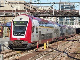 Société Nationale des Chemins de Fer Luxembourgeois - CFL Dosto regional train in Luxembourg.