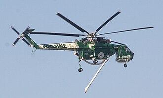 Sikorsky S-64 Skycrane - Italian Forest Service S-64F