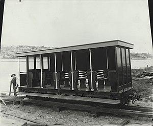 Burrinjuck Dam - Car built for the railway