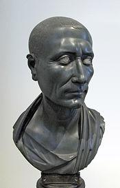 A diabase bust of Caesar.