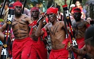 Maluku (province) - Cakalele, a traditional Moluccan dance
