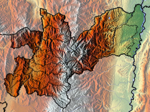 Caldas Department - Image: Caldas Topographic 2