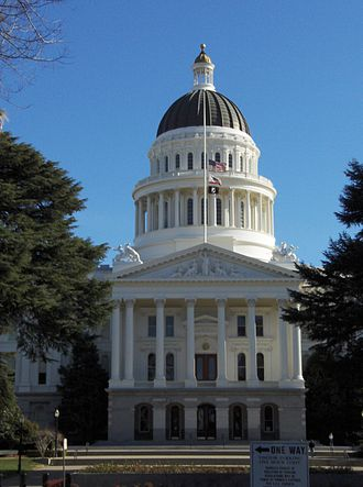 History of Sacramento, California - California State Capitol; one of few state capitols to fly POW flag