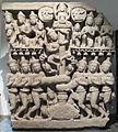 Cambogia, frammento di timpano con creazione dell'oceano di latte, da prasat phnom da, stile di angkor vat, 1100-1150.JPG