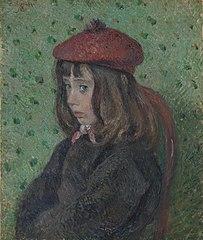 Felix Pissarro Wearing a Red Beret
